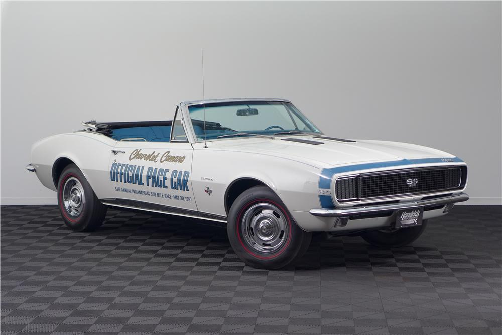 1967 CHEVROLET CAMARO INDY PACE CAR CONVERTIBLE - Front 3/4 - 161600
