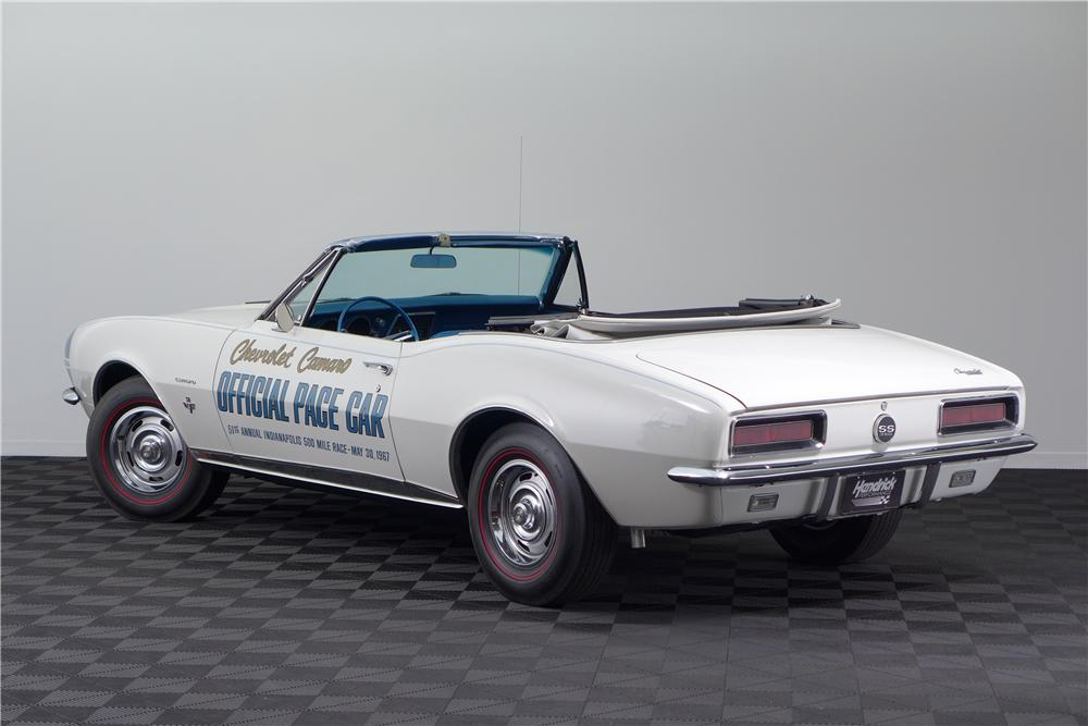 1967 CHEVROLET CAMARO INDY PACE CAR CONVERTIBLE - Rear 3/4 - 161600