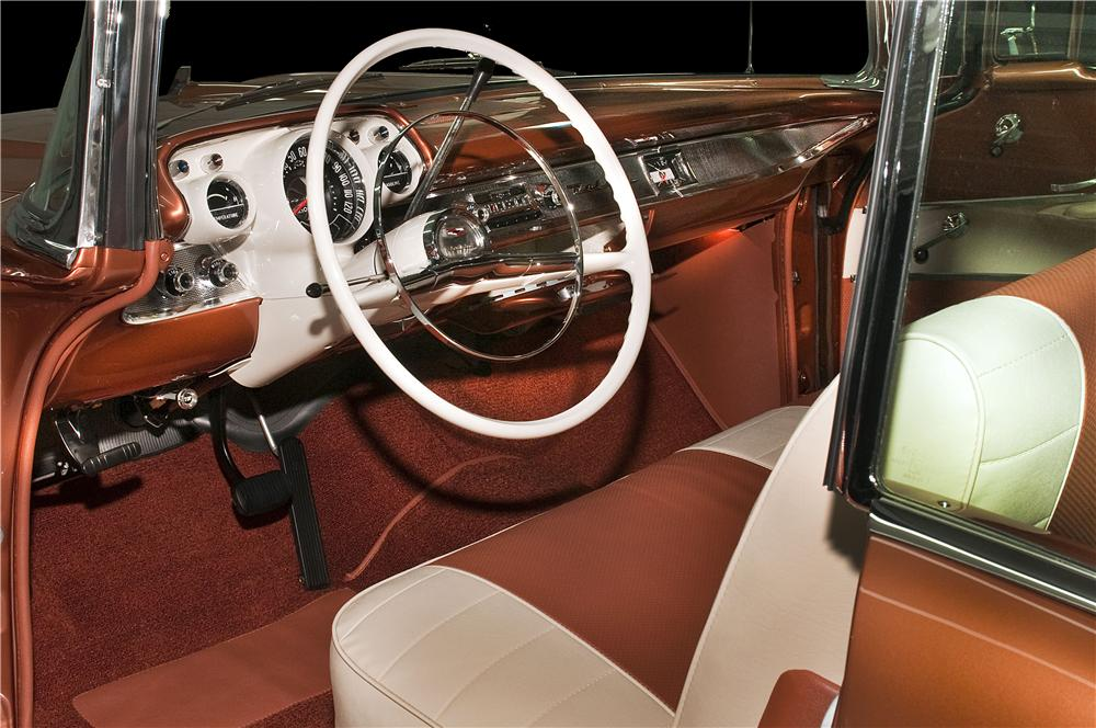 1957 CHEVROLET BEL AIR CONVERTIBLE - Interior - 161611