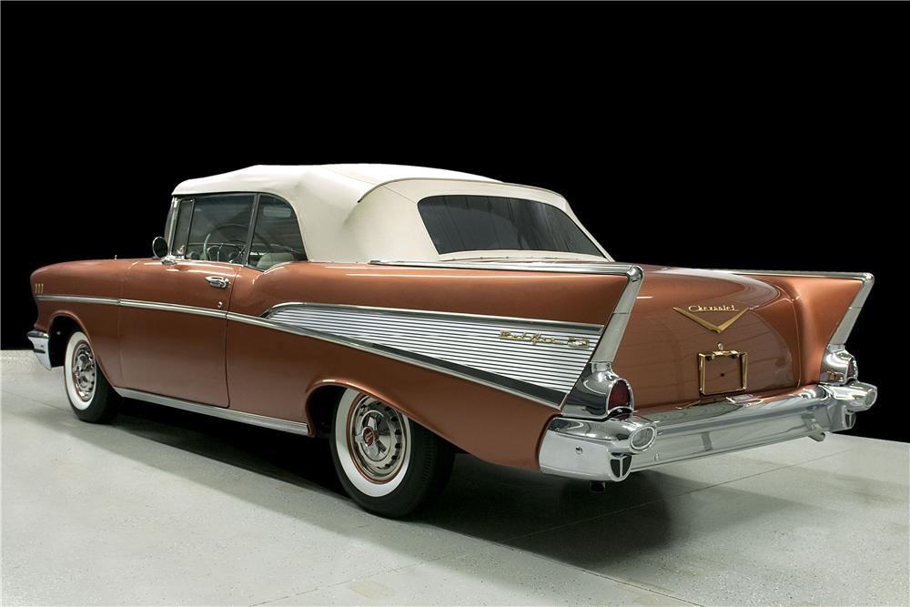1957 CHEVROLET BEL AIR CONVERTIBLE - Rear 3/4 - 161611