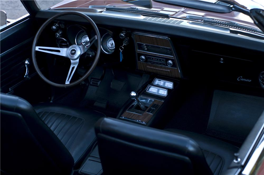 1968 CHEVROLET CAMARO RS/SS CONVERTIBLE - Interior - 161632
