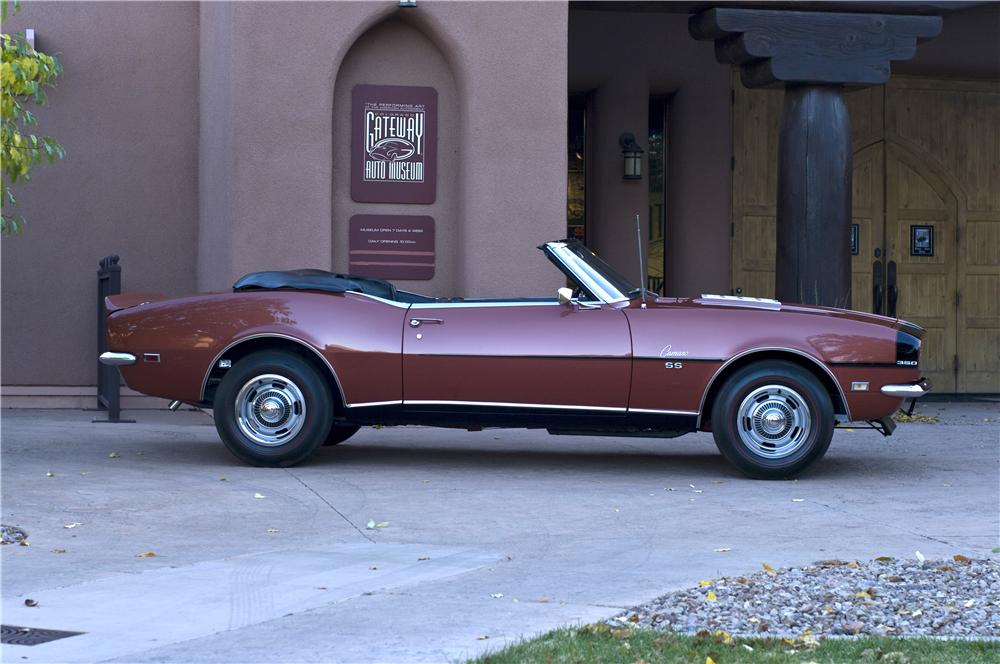 1968 CHEVROLET CAMARO RS/SS CONVERTIBLE - Side Profile - 161632