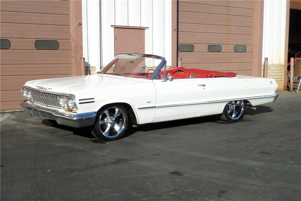 1963 CHEVROLET IMPALA CONVERTIBLE - Front 3/4 - 161639