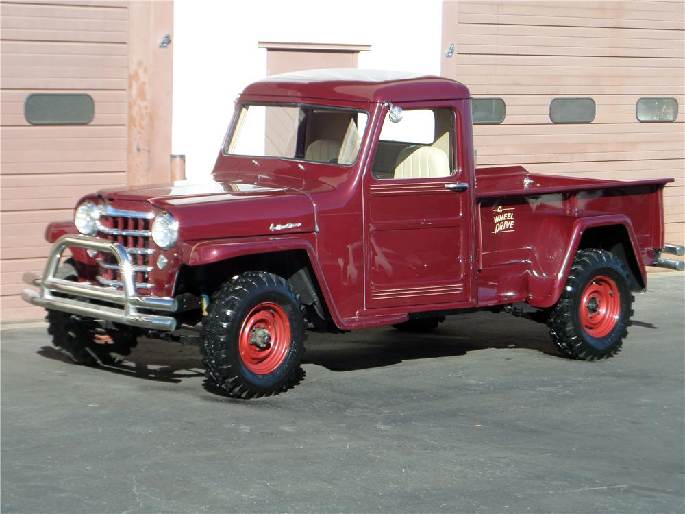 1953 WILLYS JEEP CUSTOM PICKUP - Front 3/4 - 161641