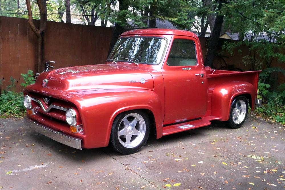 1955 FORD F-100 CUSTOM PICKUP - Front 3/4 - 161643