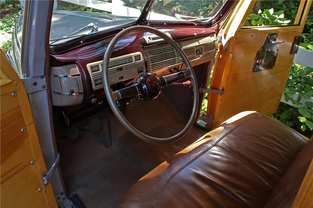 1940 FORD SUPER DELUXE WOODY WAGON - Interior - 161650
