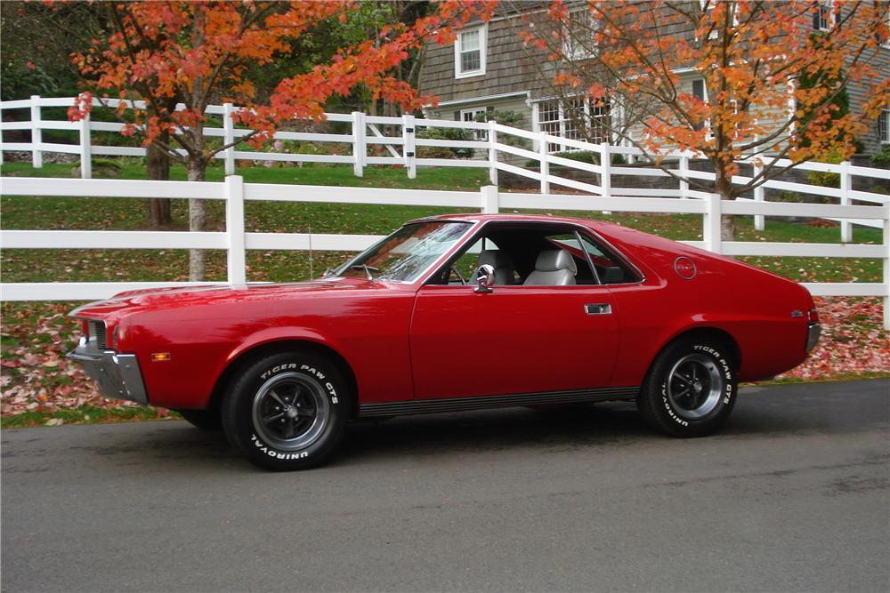 1969 AMERICAN MOTORS AMX 2 DOOR COUPE - Side Profile - 161655