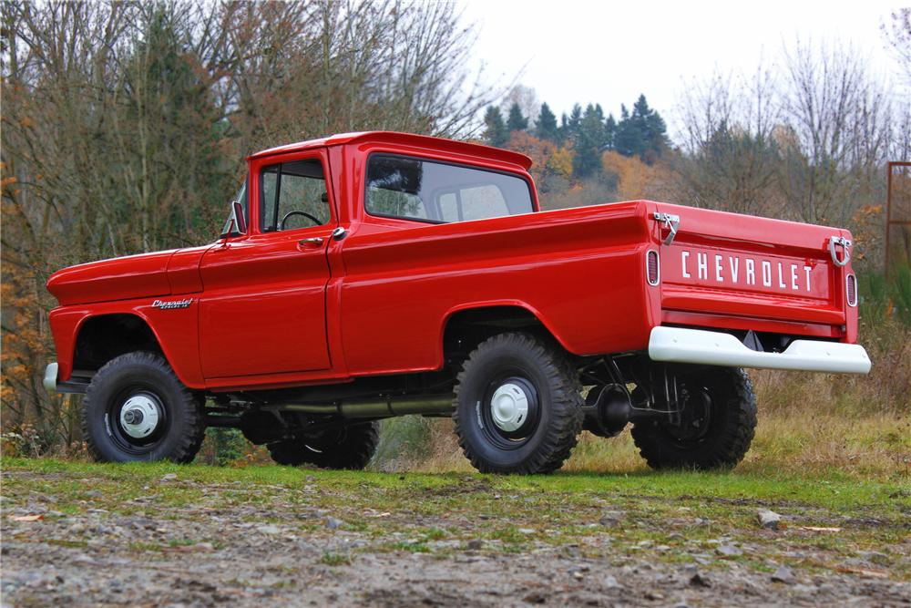 1960 CHEVROLET K10 APACHE 4X4 PICKUP - Rear 3/4 - 161657
