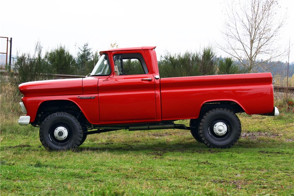 1960 CHEVROLET K10 APACHE 4X4 PICKUP - Side Profile - 161657