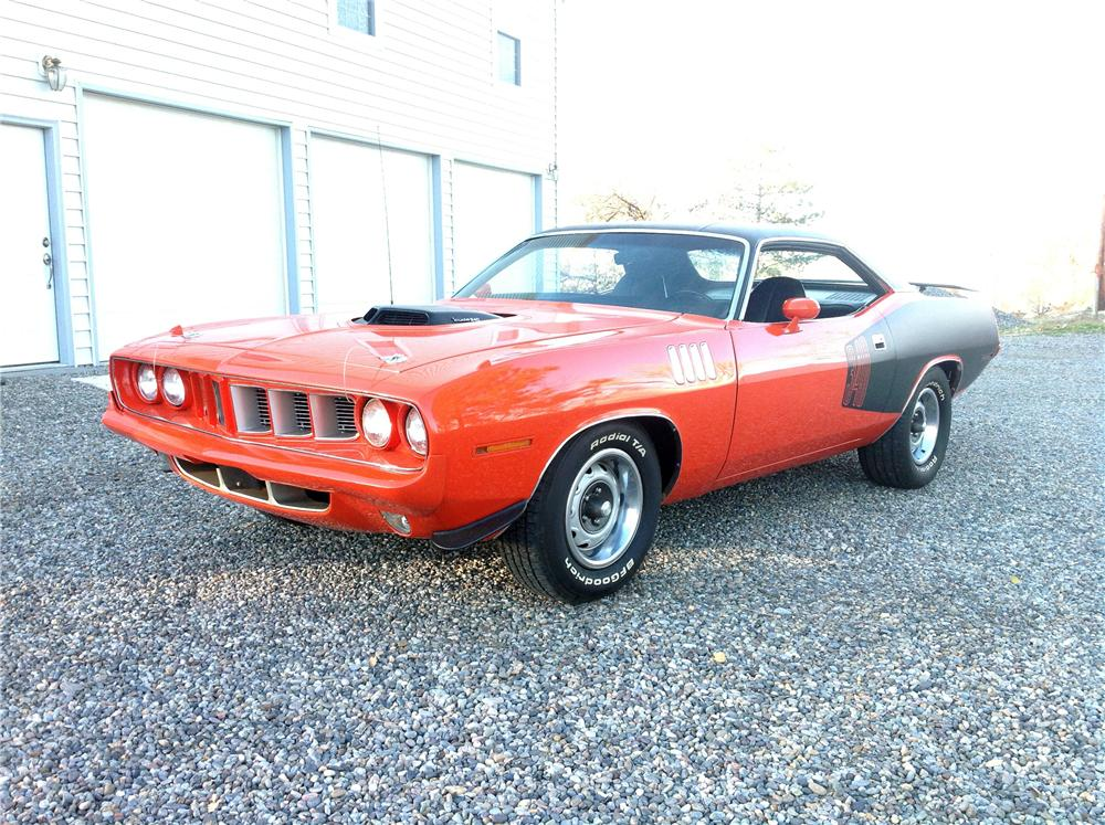 1971 PLYMOUTH CUDA 2 DOOR COUPE - Front 3/4 - 161664