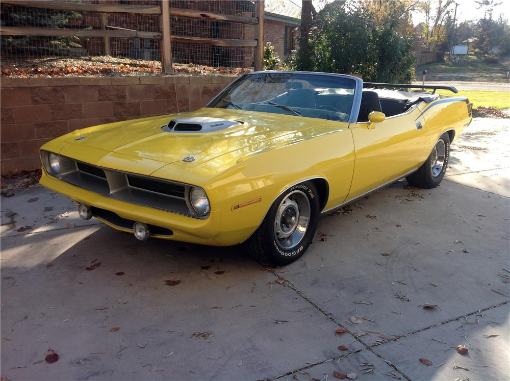 1970 PLYMOUTH CUDA CUSTOM CONVERTIBLE - Front 3/4 - 161665