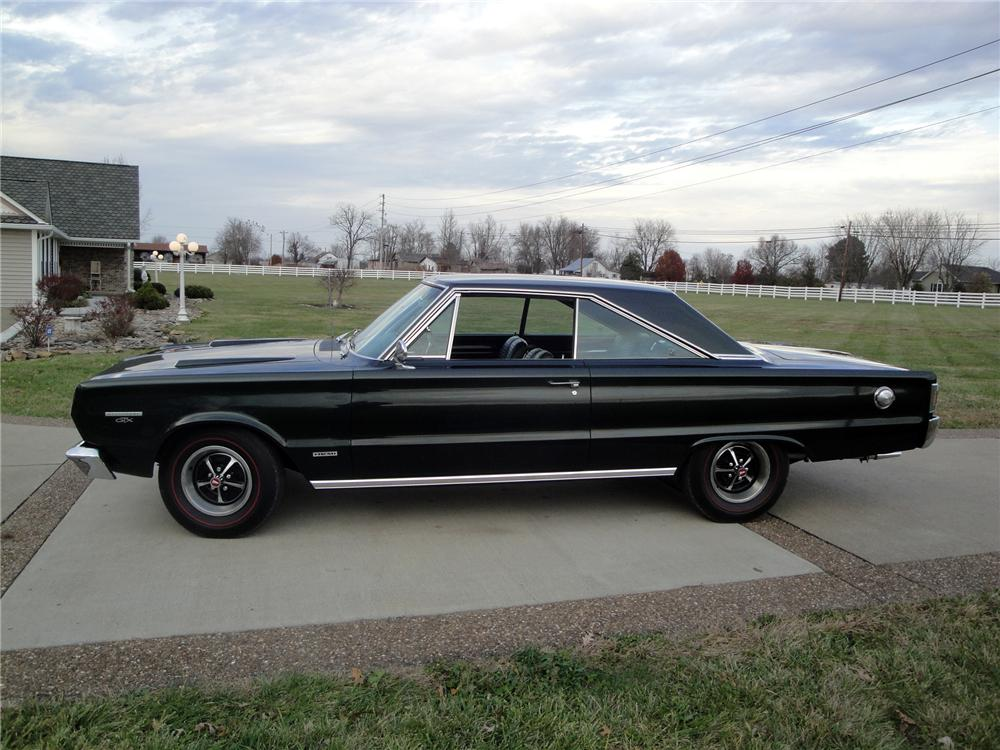 1967 PLYMOUTH HEMI GTX 2 DOOR HARDTOP - Side Profile - 161669