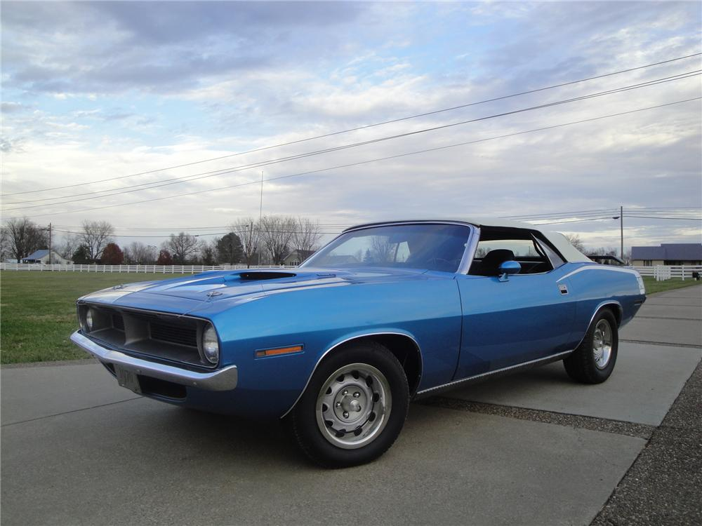 1970 PLYMOUTH BARRACUDA CONVERTIBLE - Front 3/4 - 161673