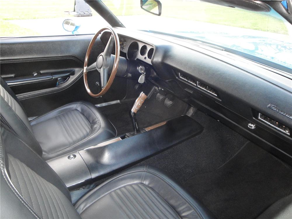 1970 PLYMOUTH BARRACUDA CONVERTIBLE - Interior - 161673