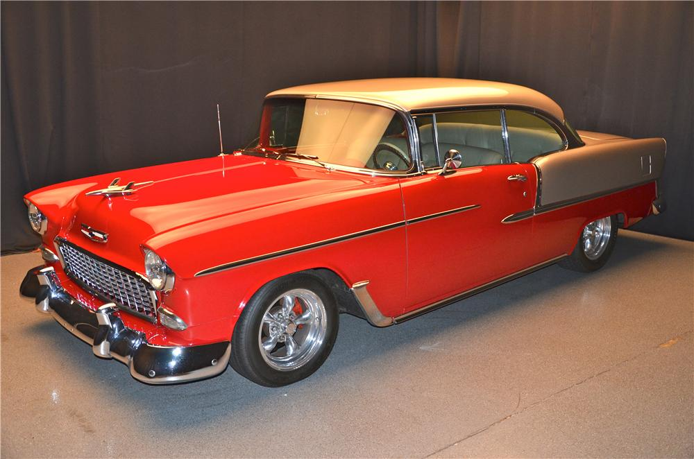 1955 CHEVROLET BEL AIR CUSTOM 2 DOOR COUPE - Front 3/4 - 161690