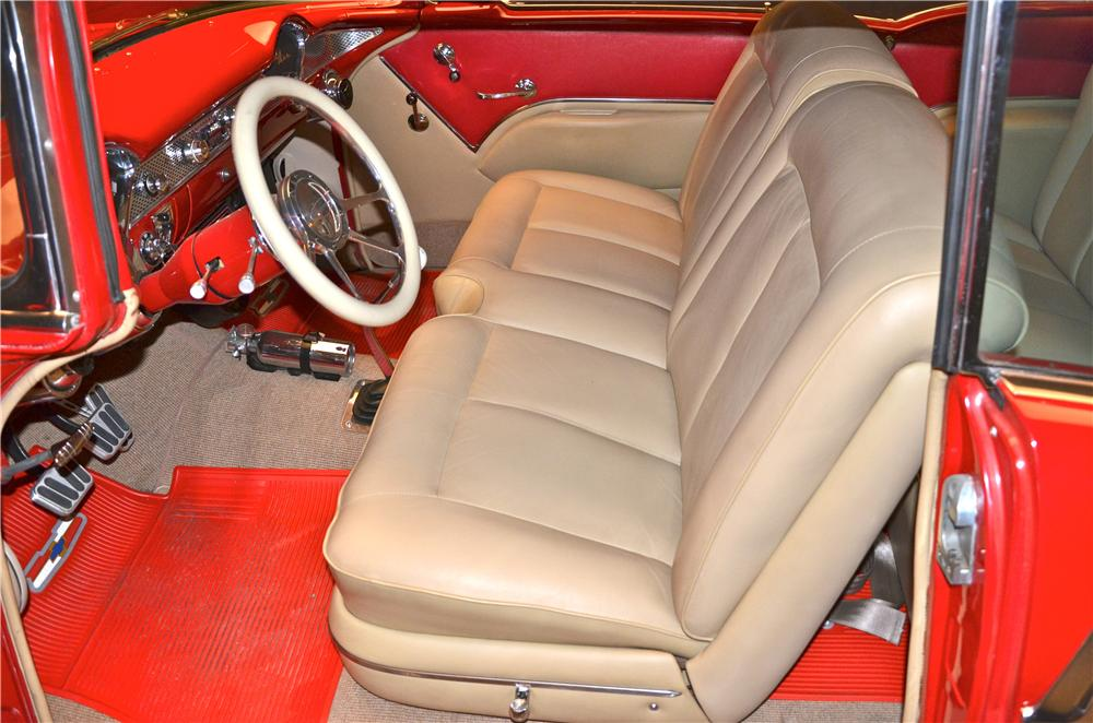 1955 CHEVROLET BEL AIR CUSTOM 2 DOOR COUPE - Interior - 161690