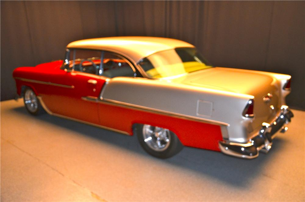 1955 CHEVROLET BEL AIR CUSTOM 2 DOOR COUPE - Rear 3/4 - 161690