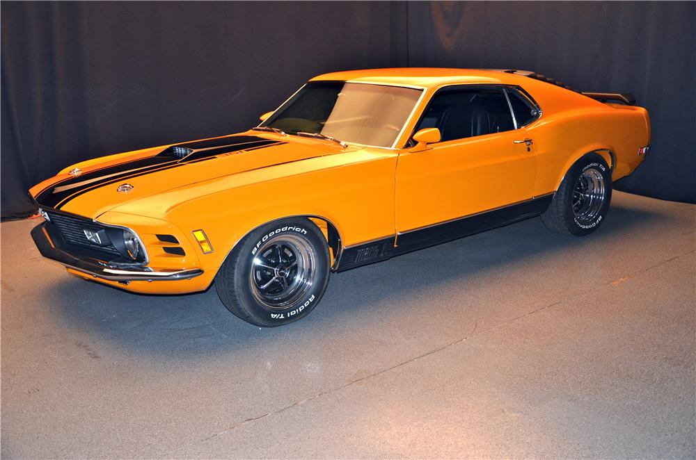 1970 FORD MUSTANG MACH 1 FASTBACK - Side Profile - 161691