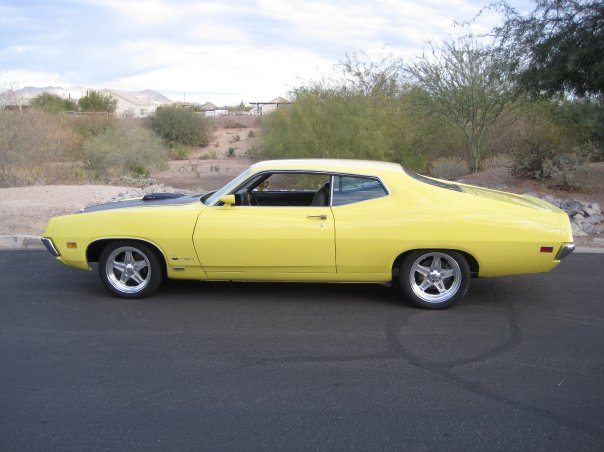 1970 FORD TORINO COBRA 2 DOOR COUPE - Side Profile - 161705