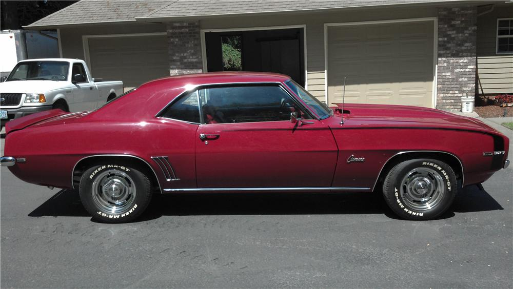 1969 CHEVROLET CAMARO 2 DOOR COUPE - Side Profile - 161709