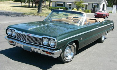 1964 CHEVROLET IMPALA SS CONVERTIBLE - Front 3/4 - 16172