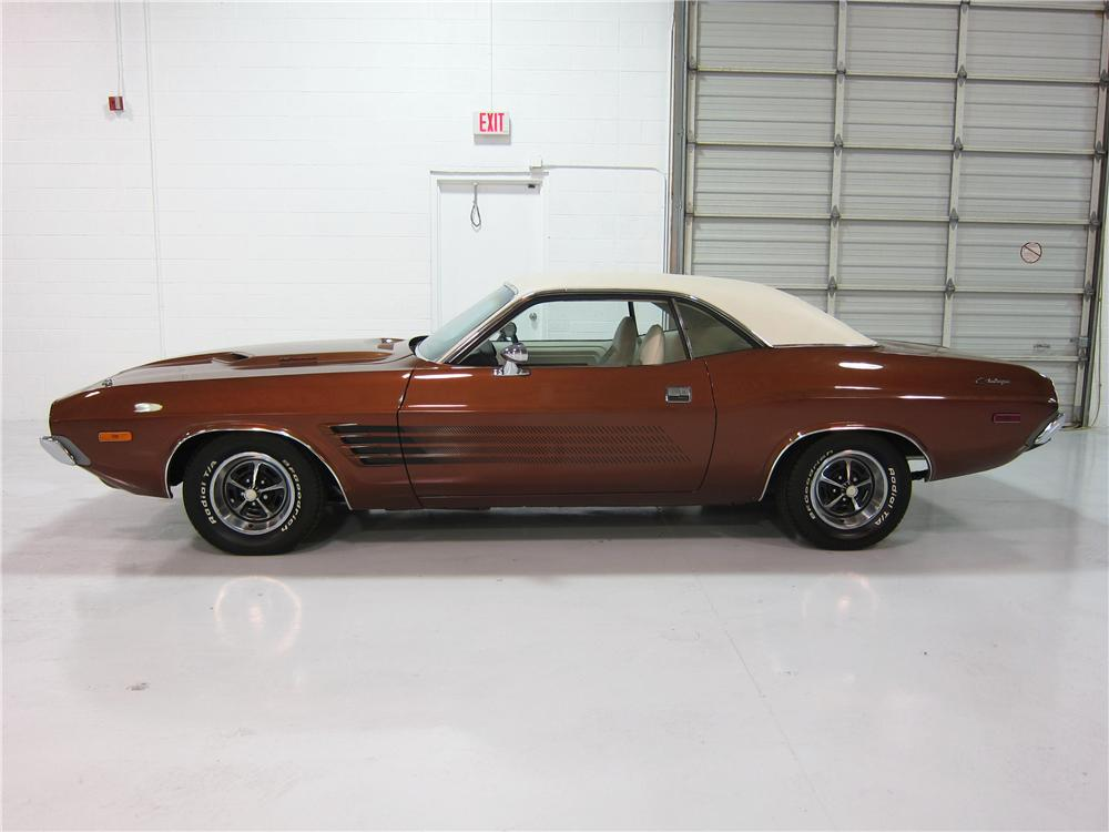 1973 DODGE CHALLENGER 2 DOOR HARDTOP - Side Profile - 161725