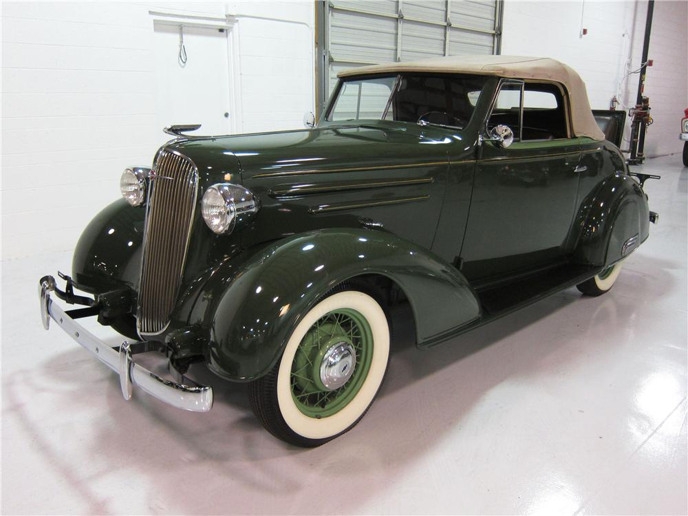 1936 CHEVROLET CONVERTIBLE - Front 3/4 - 161734