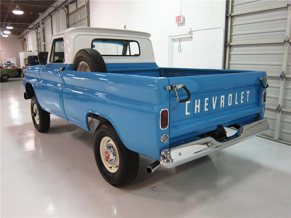 1966 CHEVROLET 1/2 TON 4X4 PICKUP - Rear 3/4 - 161737
