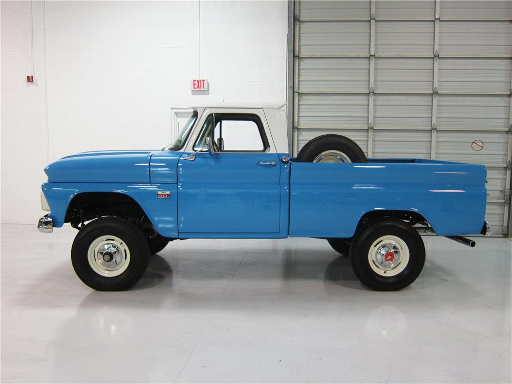 1966 CHEVROLET 1/2 TON 4X4 PICKUP - Side Profile - 161737
