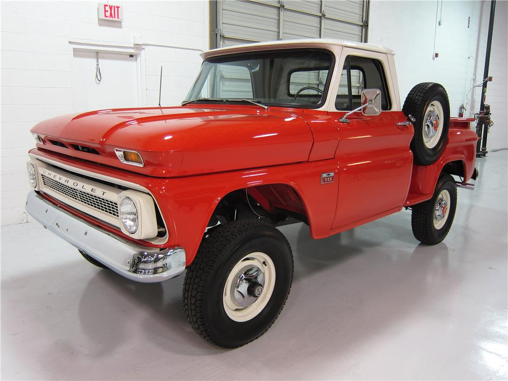 1966 CHEVROLET 1/2 TON 4X4 PICKUP - Front 3/4 - 161738