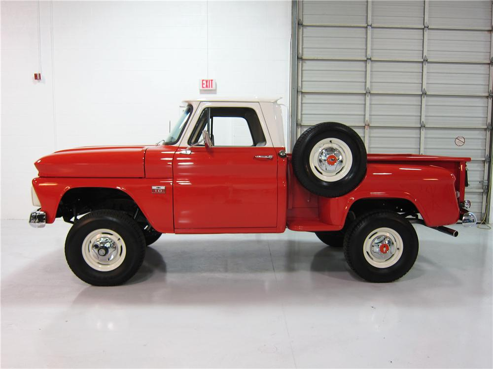 1966 CHEVROLET 1/2 TON 4X4 PICKUP - Side Profile - 161738