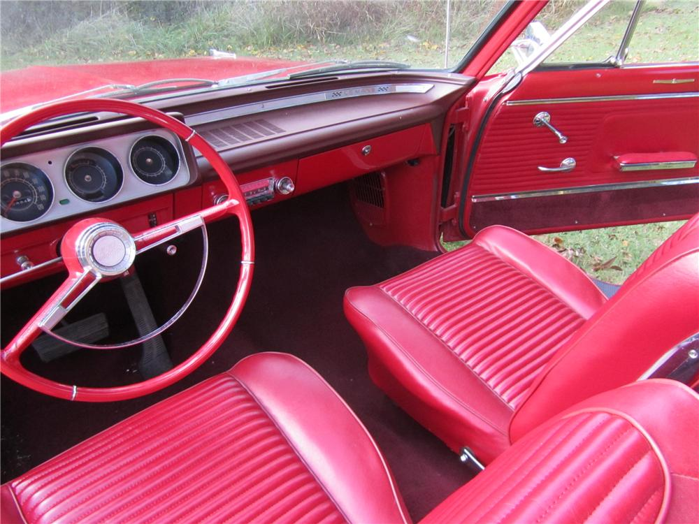1963 PONTIAC LEMANS CONVERTIBLE - Interior - 161744