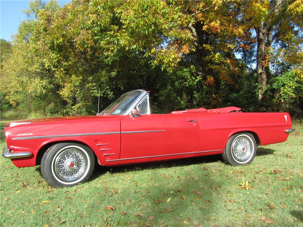 1963 PONTIAC LEMANS CONVERTIBLE - Side Profile - 161744