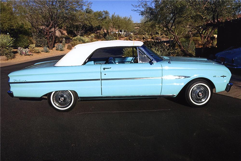 1963 FORD FALCON SPRINT CONVERTIBLE - Side Profile - 161748