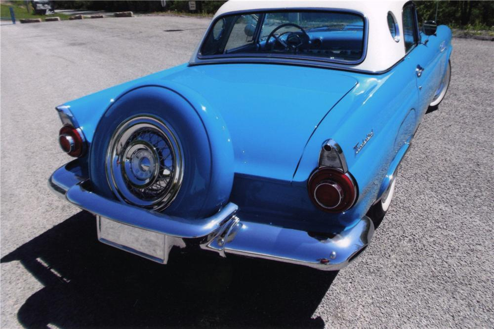 1956 FORD THUNDERBIRD CONVERTIBLE - Rear 3/4 - 161749
