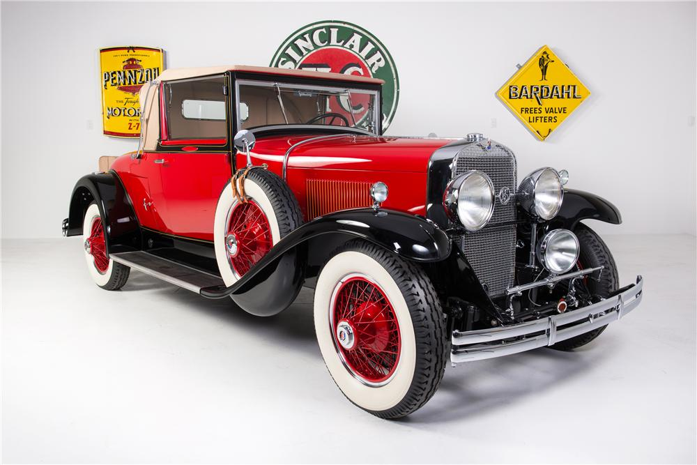 1929 LASALLE CONVERTIBLE COUPE - Front 3/4 - 161778