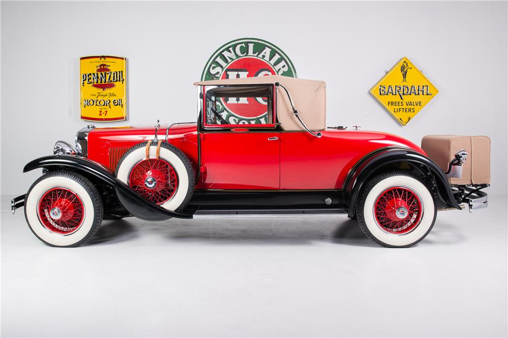 1929 LASALLE CONVERTIBLE COUPE - Side Profile - 161778