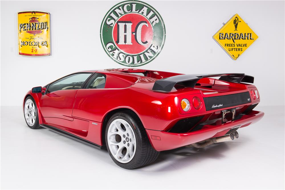 2001 LAMBORGHINI DIABLO 2 DOOR COUPE - Rear 3/4 - 161781
