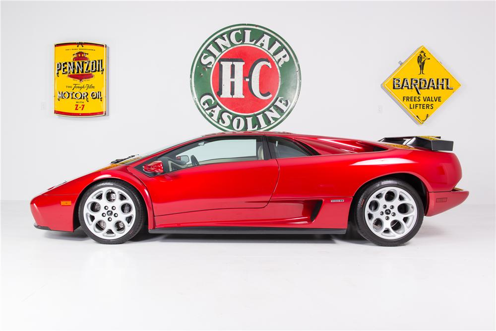 2001 LAMBORGHINI DIABLO 2 DOOR COUPE - Side Profile - 161781