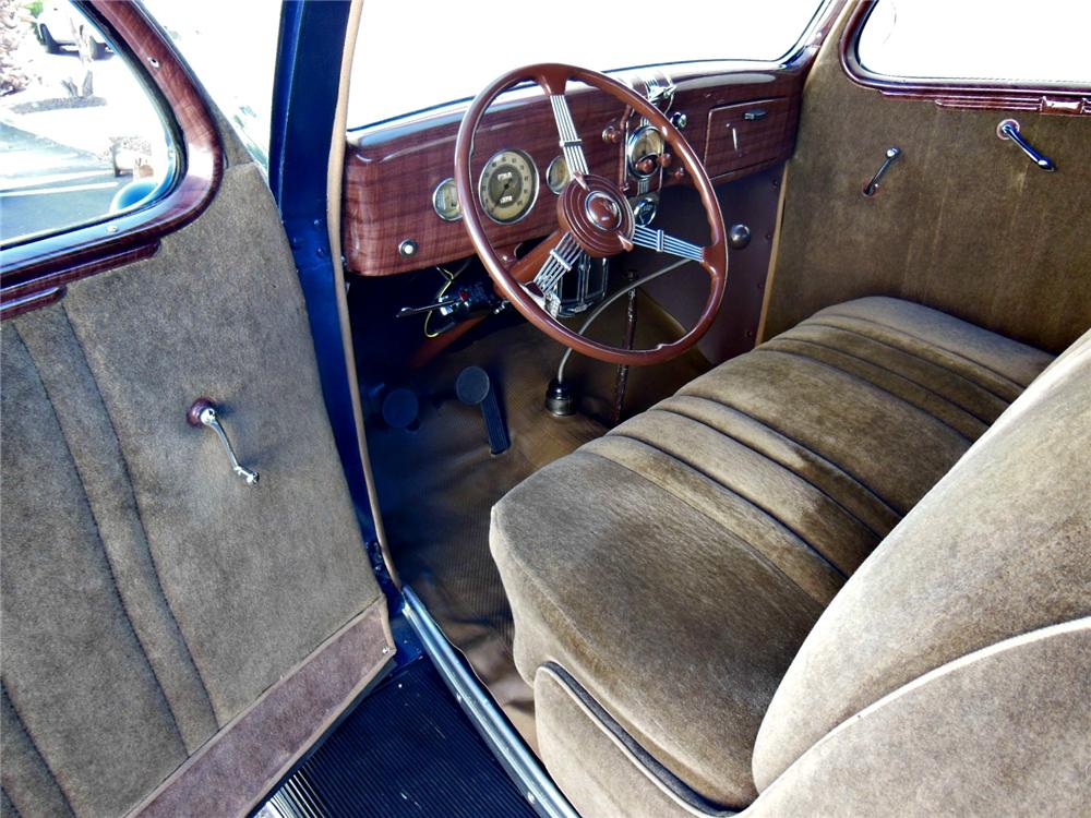 1936 FORD DELUXE 3 WINDOW COUPE - Interior - 161786