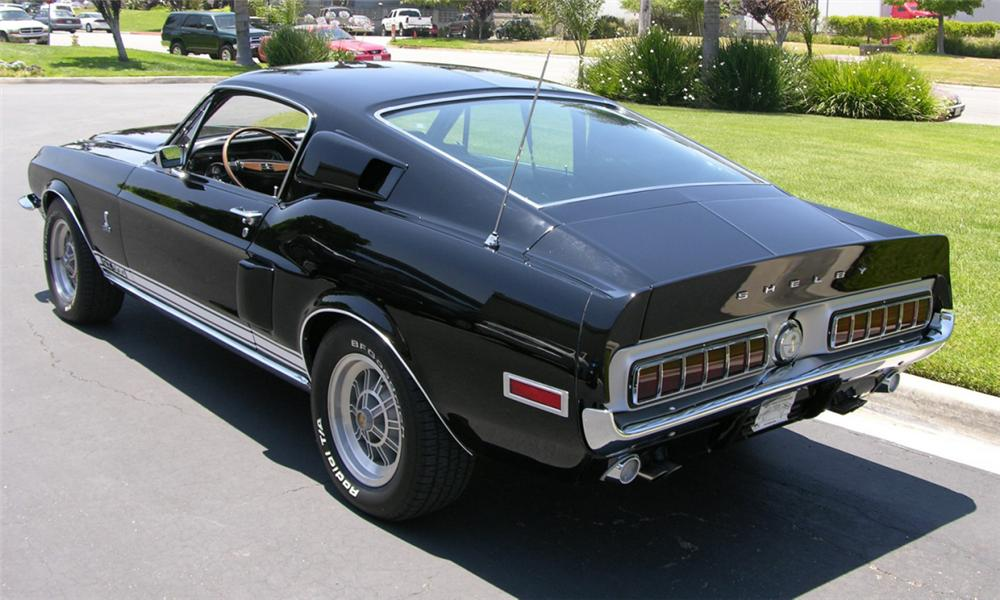 1968 SHELBY GT500 FASTBACK - Rear 3/4 - 16179