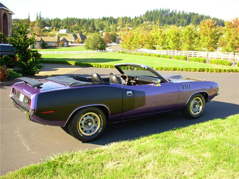 1971 PLYMOUTH CUDA CUSTOM CONVERTIBLE - Side Profile - 161802