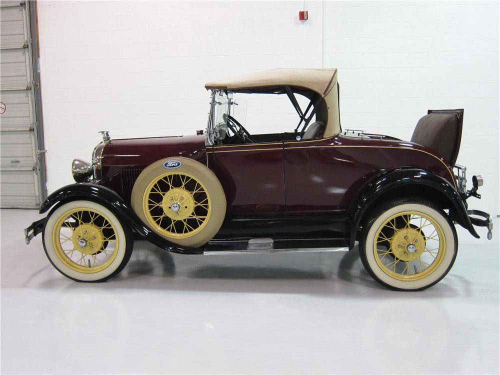 1928 FORD MODEL A ROADSTER - Side Profile - 161814