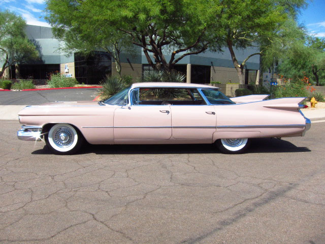 1959 CADILLAC SEDAN DE VILLE 4 DOOR HARDTOP - Side Profile - 161816