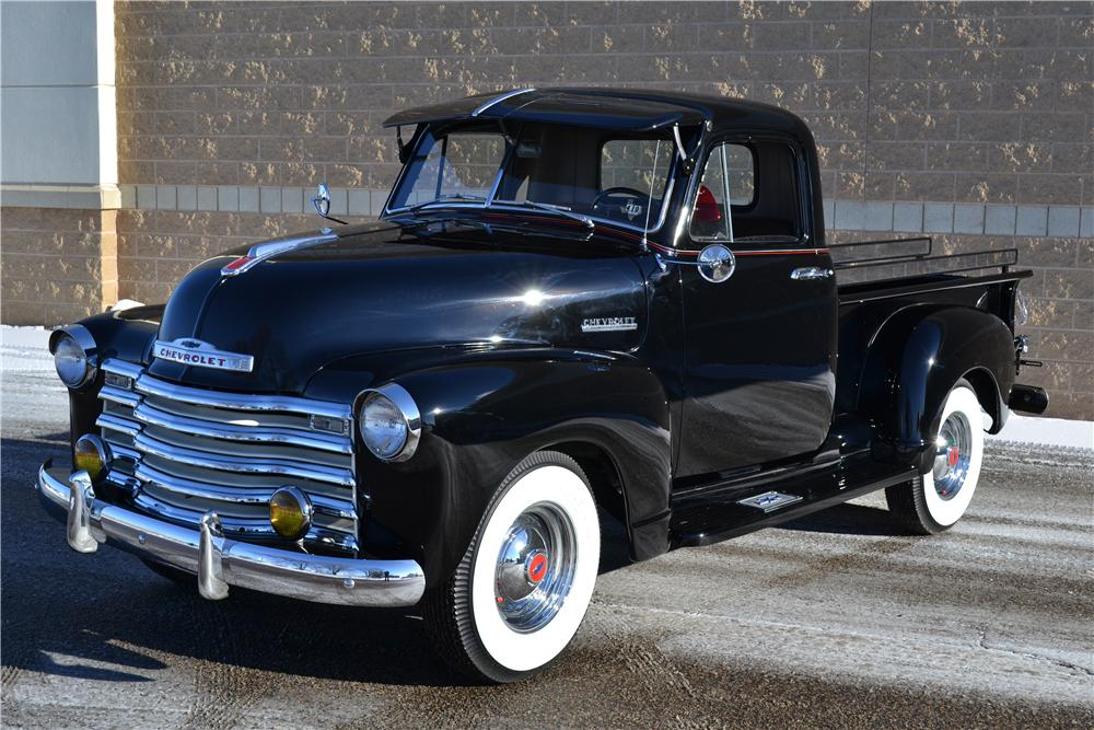 1952 CHEVROLET 3100 PICKUP - Front 3/4 - 161845