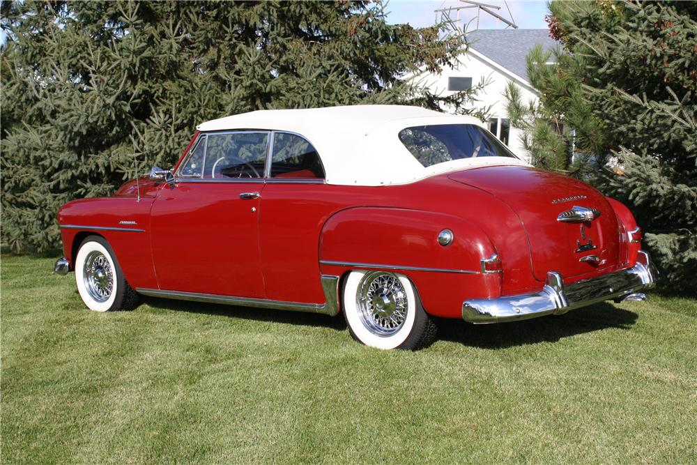 1951 PLYMOUTH CRANBROOK CONVERTIBLE - Rear 3/4 - 161849