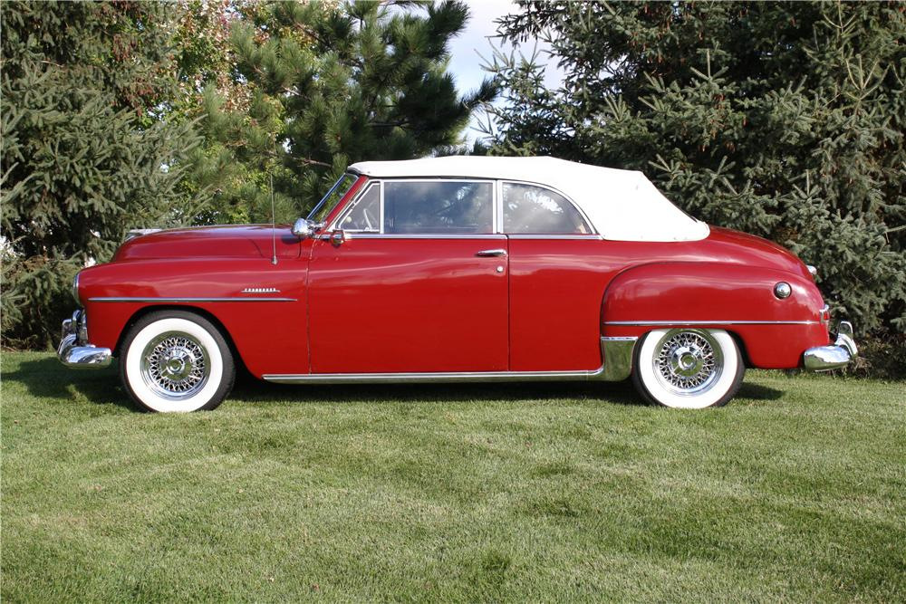 1951 PLYMOUTH CRANBROOK CONVERTIBLE - Side Profile - 161849