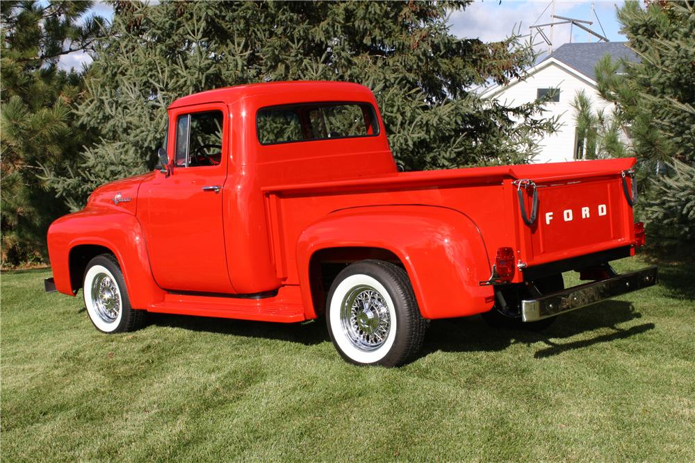 1956 FORD F-100 PICKUP - Rear 3/4 - 161853