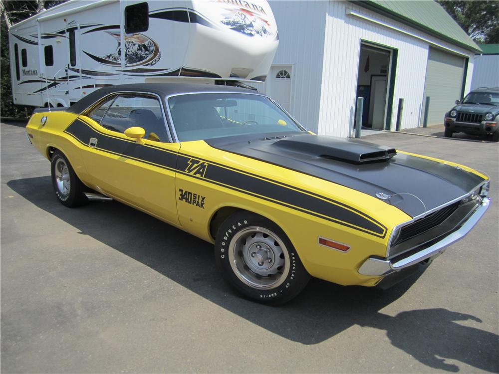 1970 DODGE CHALLENGER T/A 2 DOOR HARDTOP - Side Profile - 161861