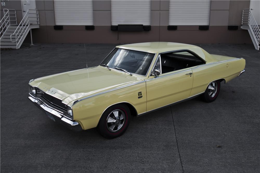 1967 DODGE DART GTS 2 DOOR HARDTOP - 161865